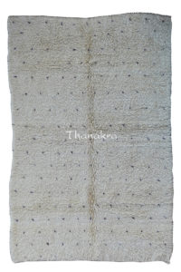 Tapis blanc beni ourain moyen atlas