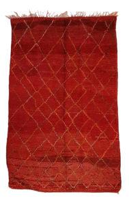 Tapis moyen atlas rouge