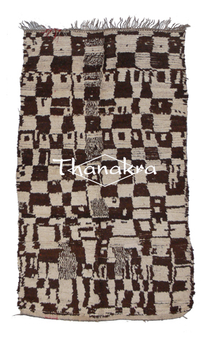 ait bou ouli carpet black and white